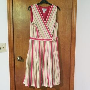 Adrianna Papell Size 10 Sleeveless Lined Dress